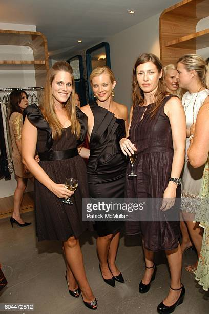 Kristin Eberts Amy Smart and Penny Lovell attend Opening of AURA hosted by Kristin Eberts and Amy Smart at Los Angeles on August 16 2006