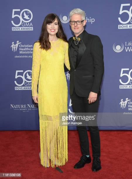 Kristin Fisher and Matt Maher attend the 50th Annual GMA Dove Awards at Lipscomb University on October 15 2019 in Nashville Tennessee