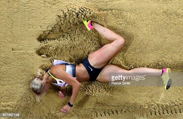 Kristin Gierisch of Germany competes in the Women's Triple Jump final during day four of the 16th IAAF World Athletics Championships London 2017 at...