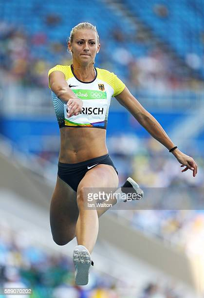 Kristin Gierisch of Germany competes in Women's Triple Jump Qualifying on Day 8 of the Rio 2016 Olympic Games at the Olympic Stadium on August 13...