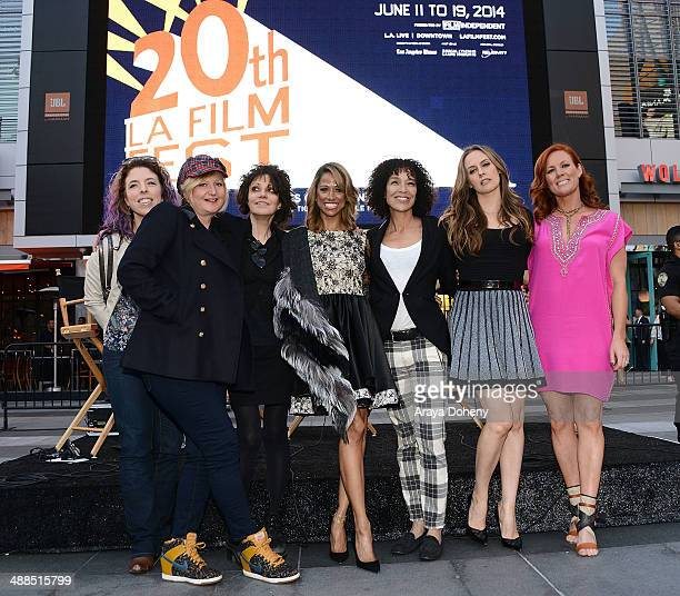 Kristin Hanggi Mona May Amy Heckerling Stacey Dash Stephanie Allain Alicia Silverstone and Elisa Donovan attend the Film Independent's prefestival...