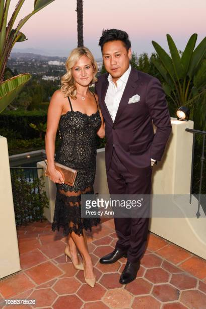 Kristin Hodge and Jon M Chu attend Film Independent Project Involve Gala at Private Residence on September 22 2018 in Los Angeles California