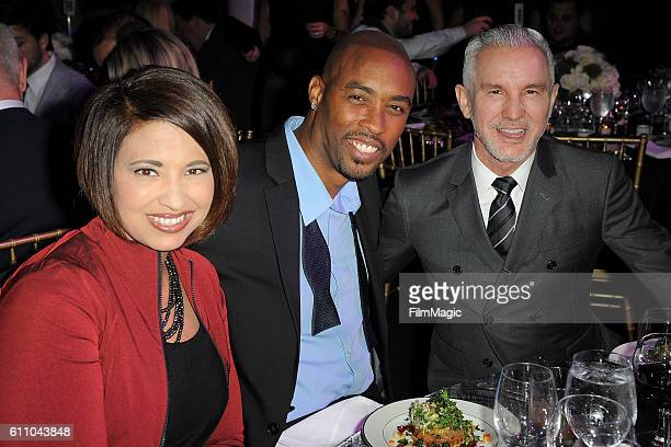Kristin Hudson Montell Jordan and Baz Luhrmann attend the 2016 Clio Awards at the American Museum of Natural History on September 28 2016 in New York...