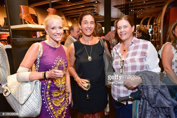 Kristin Jones Vanessa von Bismarck and Ariadne CalboPlatro attend 'Fitness Junkie' Book Launch at Longchamp on July 11 2017 in New York City
