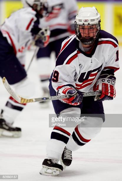 Kristin King of team USA skates against team Germany in a IIHF World Women's Championships preliminary game at the Cloetta Center on April 5 2005 in...