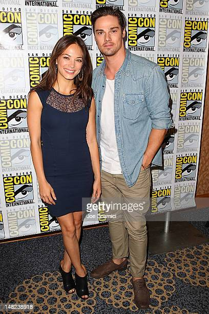 Kristin Kreuk and Jay Ryan arrive at the 'Beauty and the Beast' and 'Elementary' press line at ComicCon International 2012 Day 1 at San Diego...