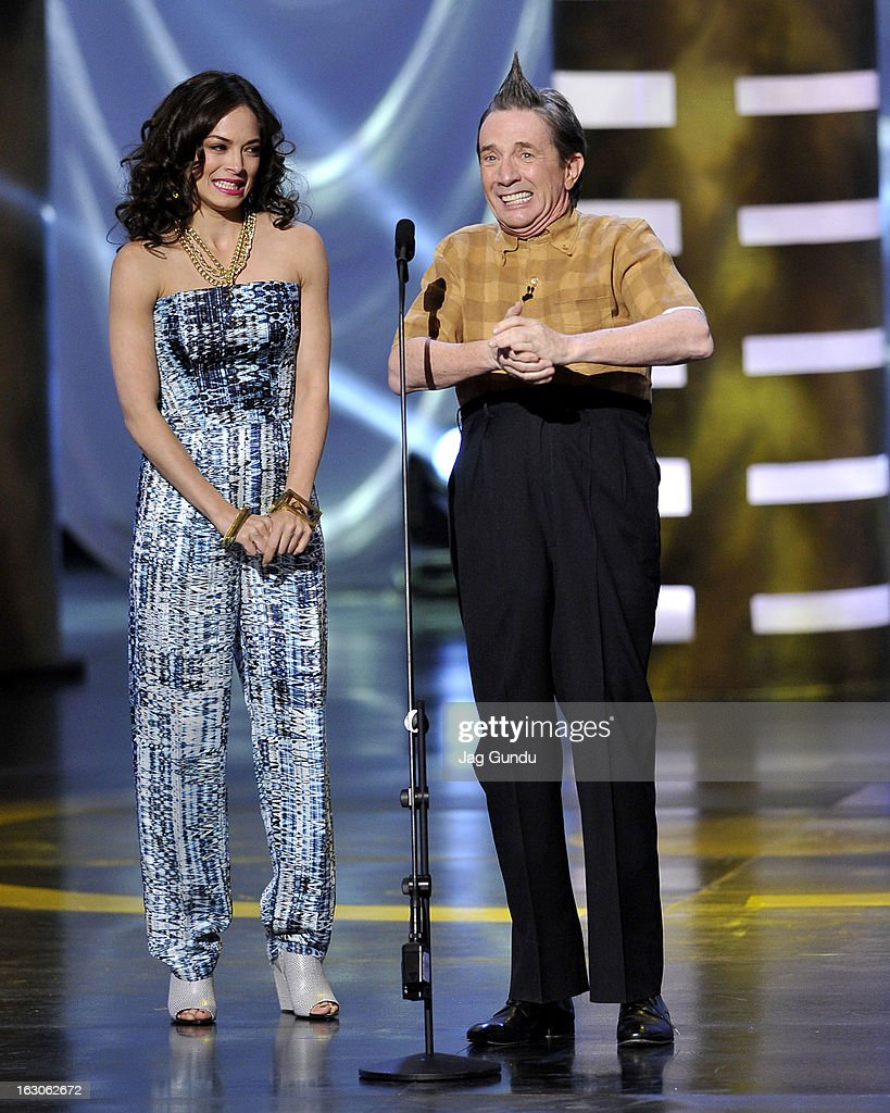 Kristin Kreuk and Martin Short present at the 2013 Canadian Screen Awards at the Sony Centre for the Performing Arts on March 3, 2013 in Toronto, Canada.
