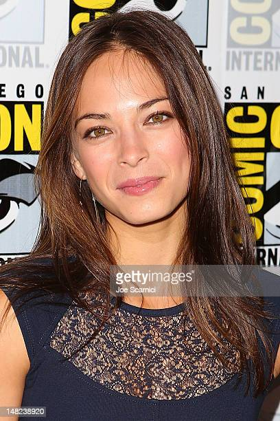 Kristin Kreuk arrives at the 'Beauty and the Beast' and 'Elementary' press line at ComicCon International 2012 Day 1 at San Diego Convention Center...
