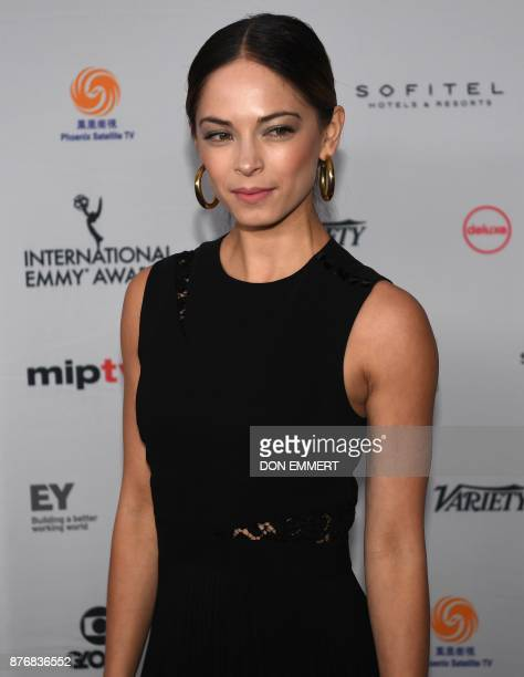 Kristin Kreuk arrives for the 45th International Emmy awards gala in New York city on November 20 2017 The International Emmy Award is an award...