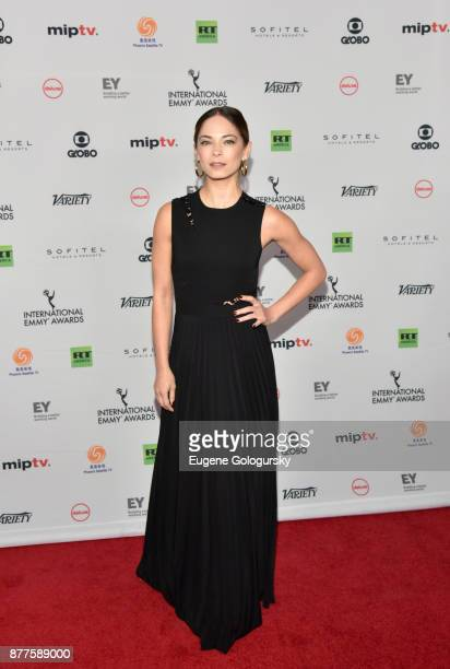 Kristin Kreuk attends International Emmy Awards Red Carpet at New York Hilton Midtown on November 20 2017 in New York City