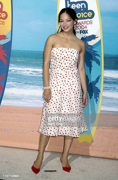 Kristin Kreuk during The 2004 Teen Choice Awards Press Room at Universal Ampitheater in Universal City California United States