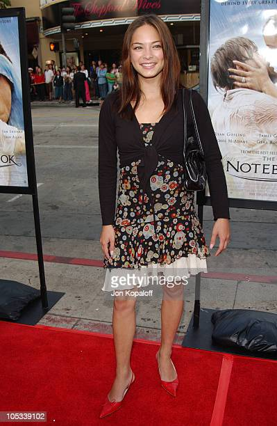 Kristin Kreuk during 'The Notebook' World Premiere Arrivals at Mann Village Theatre in Westwood California United States