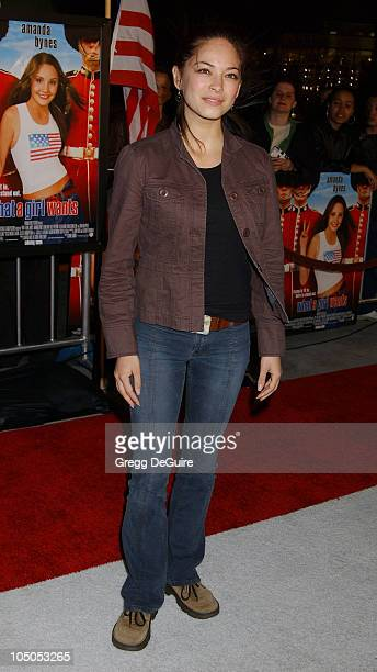 Kristin Kreuk of 'Smallville' during 'What A Girl Wants' Premiere Arrivals at Cinerama Dome in Hollywood California United States