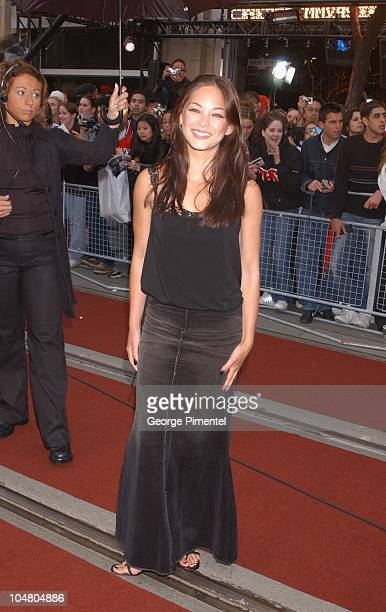 Kristin Kreuk on the red carpet at the MMV Awards during MuchMusic Video Awards 2002 Arrivals at Chum City Building in Toronto Ontario Canada
