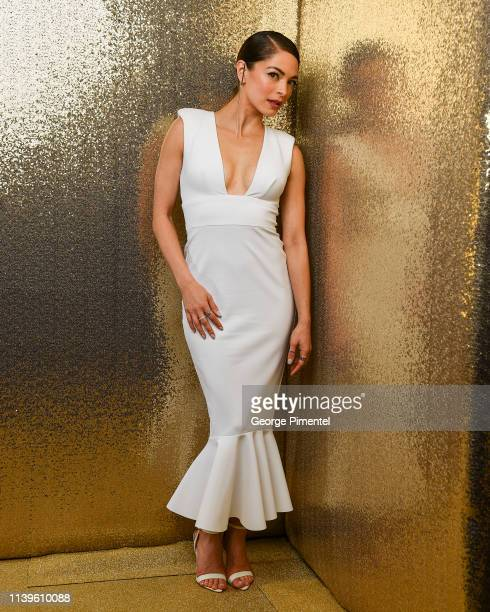 Kristin Kreuk poses inside the 2019 Canadian Screen Awards Portrait Studio held at Sony Centre for the Performing Arts on March 31 2019 in Toronto...