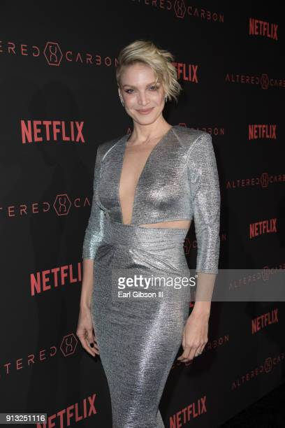 Kristin Lehman attends the Premiere Of Netflix's Altered Carbon at Mack Sennett Studios on February 1 2018 in Los Angeles California