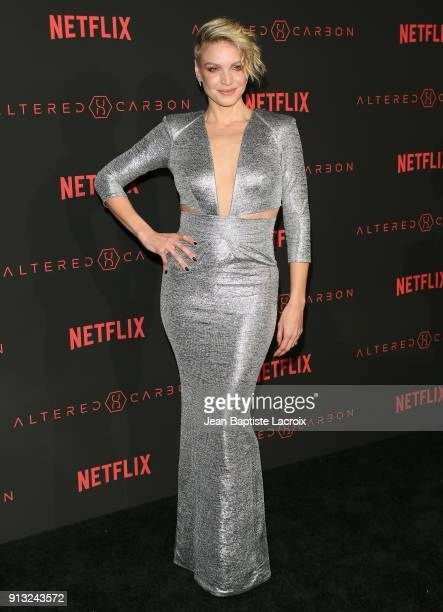 Kristin Lehman attends the World Premiere of the Netflix Original Series 'Altered Carbon' on February 1 2018 in Los Angeles California