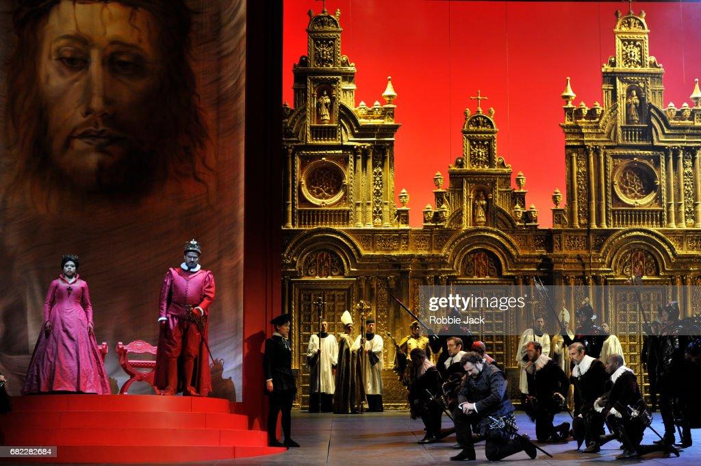 The Royal Opera's Production Of Giuseppe Verdi's Don Carlo At The Royal Opera House : News Photo