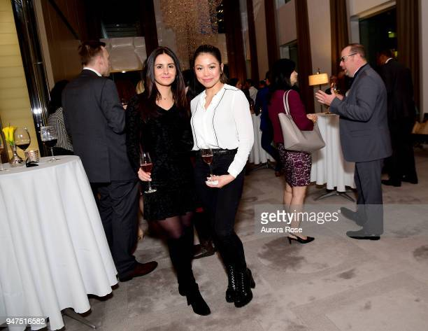 Kristin Lukic and Shae Antonio attend Launch Of New Entity Withers Global Advisors at 432 Park Avenue on April 3 2018 in New York City Kristin...