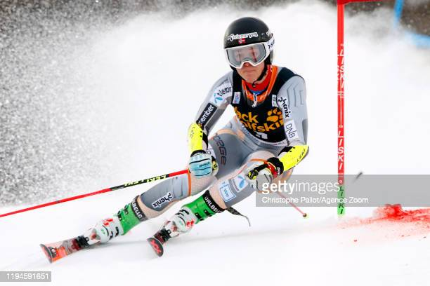 Kristin Lysdahl of Norway in action during the Audi FIS Alpine Ski World Cup Women's Parallel Slalom on January 19, 2020 in Sestriere Italy.