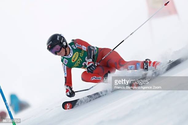 Kristin Lysdahl of Norway in action during the Audi FIS Alpine Ski World Cup Women's Giant Slalom on October 28 2017 in Soelden Austria