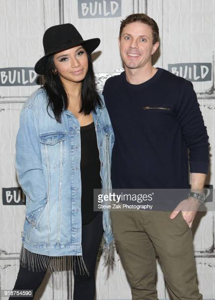 Kristin Maldonado and Jake Shears attend Build Series to discuss 'Kinky Boots' at Build Studio on February 15 2018 in New York City
