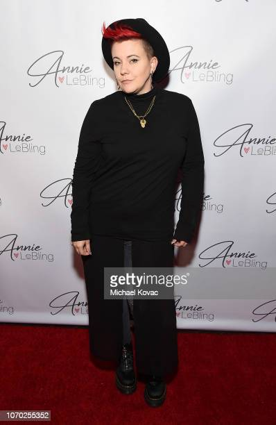 Kristin McQuaid attends the Annie LeBling presents Annie LeBlanc Performance Pop Up Shop on December 8 2018 in Los Angeles California