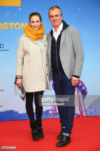 Kristin Meyer and partner Patrick Winczewsk attend the 'Paddington 2' premiere at Zoo Palast on November 12 2017 in Berlin Germany