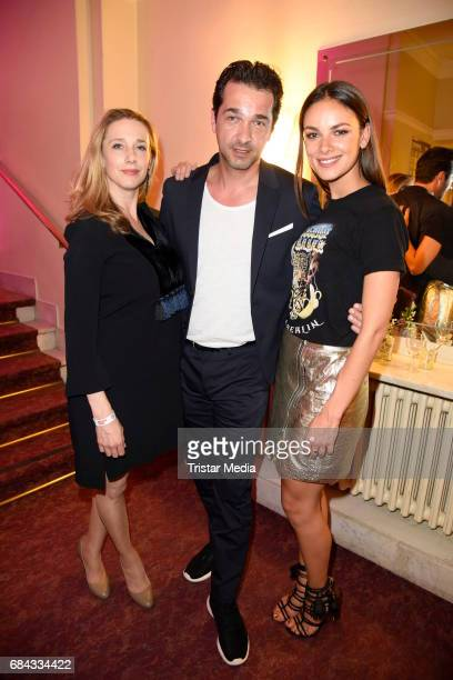Kristin Meyer Andreas Elsholz and Janina Use attend the 25th anniversary party of the TV show 'GZSZ' on May 17 2017 in Berlin Germany