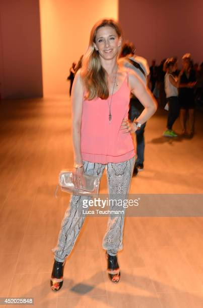 Kristin Meyer attends the Irene Luft show during the MercedesBenz Fashion Week Spring/Summer 2015 at Erika Hess Eisstadion on July 11 2014 in Berlin...