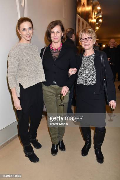 Kristin Meyer Petra Blossey Renate Schaefer during the 'Hase Hase' theatre premiere at Komoedie am Kurfuerstendamm at Schillertheater on January 20...
