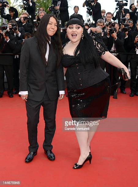 """Kristin Ogata and Beth Ditto attend the """"De Rouille et D'os"""" Premiere during the 65th Annual Cannes Film Festival at Palais des Festivals on May 17,..."""