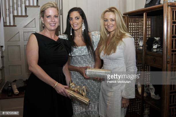 Kristin Pruett Daniella Rich Kilstock and Caroline Berthet attend Jimmy Choo and Allison Lutnick event supporting the Cantor Fitgerald Relief Fund at...