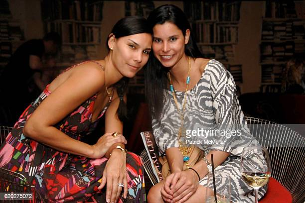 Kristin Schonwald and Lilly Schonwald attend SOCIAL LIFE Magazine Cover Party Sponsored by SARAR and PERONI at Soho House Library on April 24 2008 in...