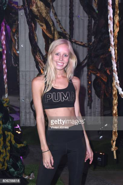 Kristin Schuppert attends PUMA Hosts CAMP PUMA To Launch Their Newest Women's Collection Velvet Rope at Goya Studios on August 3 2017 in Los Angeles...