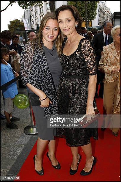 Kristin Scott Thomas and daughter Hannah Olivennes at Gala Evening For The 40th Anniversary Of The Claude Pompidou Foundation