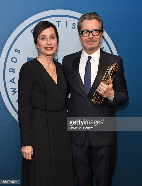 Kristin Scott Thomas and Gary Oldman attend the British Independent Film Awards held at Old Billingsgate on December 10 2017 in London England