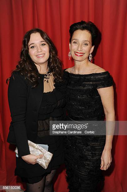 Kristin Scott Thomas and her daughter Hannah Olivennes attend the 36th Cesar Film Awards at Theatre du Chatelet in Paris