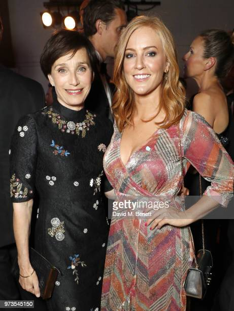 Kristin Scott Thomas and SarahJane Mee attend the 3rd annual 'End The Silence' charity gala in aid of 'Hope and Homes for Children with live...