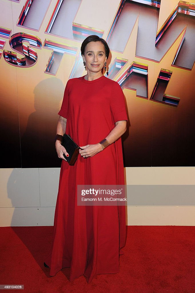 Kristin Scott Thomas arrives at Banqueting House for the BFI London Film Festival Awards on October 17, 2015 in London, England.