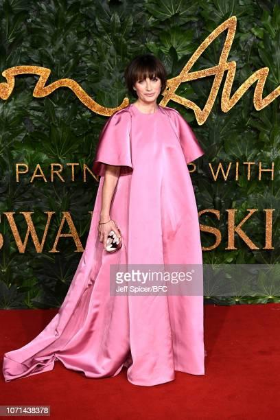 Kristin Scott Thomas arrives at The Fashion Awards 2018 In Partnership With Swarovski at Royal Albert Hall on December 10 2018 in London England
