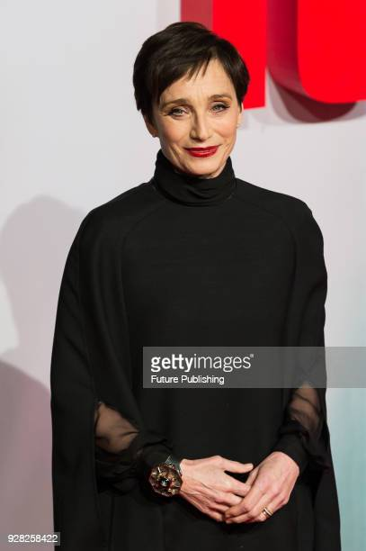 Kristin Scott Thomas arrives for the European film premiere of 'Tomb Raider' at Vue West End cinema in London's Leicester Square March 6 2018 in...