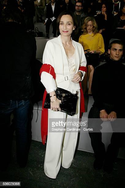 Kristin Scott Thomas at the Yves Saint Laurent Spring/Summer 2008 collection fashion show during Paris Fashion Week