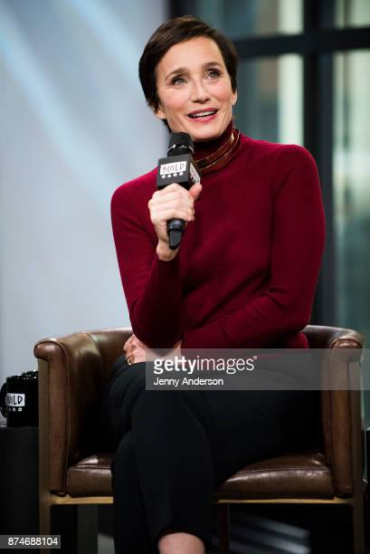 Kristin Scott Thomas attends AOL Build Series at Build Studio on November 15 2017 in New York City