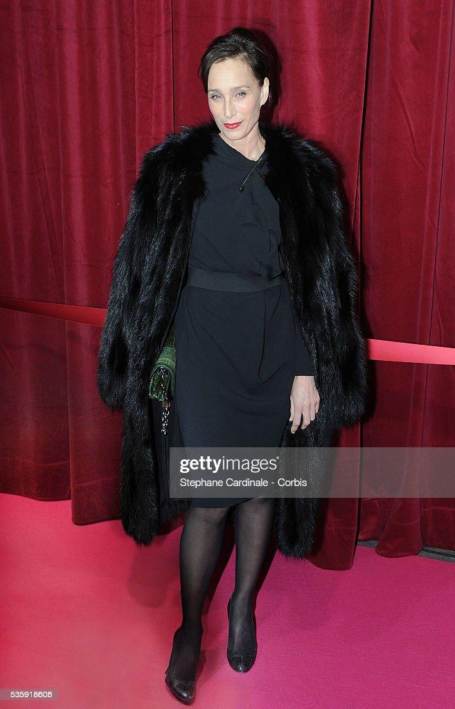 Kristin Scott Thomas attends Christmas Illuminations Launch at the Printemps Store in Paris