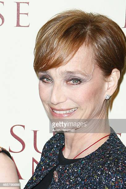 Kristin Scott Thomas attends 'Suite Francaise' Premiere at Cinema UGC Normandie on March 10 2015 in Paris France