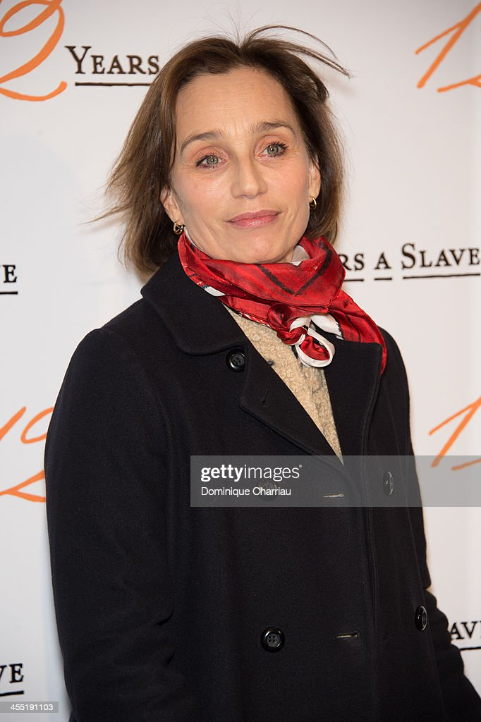 Kristin Scott Thomas attends the '12 Years A Slave' Paris premiere at Cinema UGC Normandie on December 11, 2013 in Paris, France.