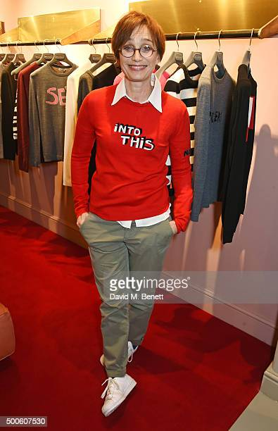 Kristin Scott Thomas attends the Bella Freud store launch in Marylebone on December 9 2015 in London England