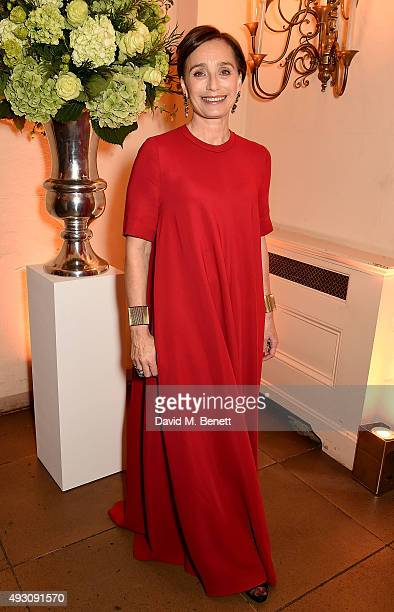 Kristin Scott Thomas attends the BFI London Film Festival Awards at Banqueting House on October 17 2015 in London England