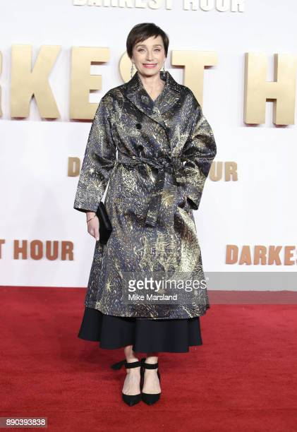 Kristin Scott Thomas attends the 'Darkest hour' UK premeire at Odeon Leicester Square on December 11 2017 in London England